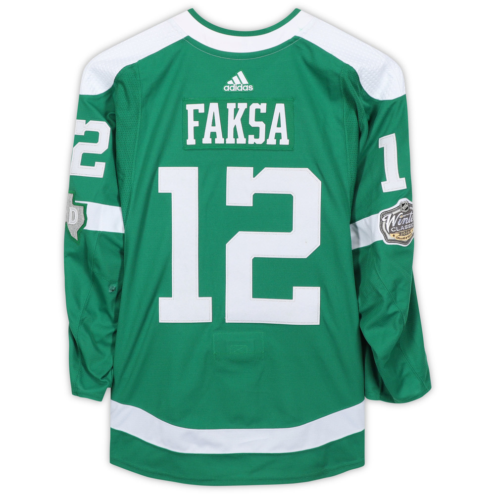 Radek Faksa Dallas Stars Game-Used 2020 NHL Winter Classic Jersey - Worn During First Period