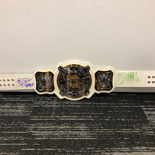 Photo of Kabuki Warriors SIGNED WWE Women's Tag Team Championship Replica Title