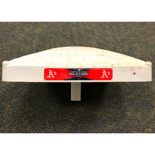 Photo of Game-Used Base: 1B (inn 1-3) 2019 AL Wild Card Game