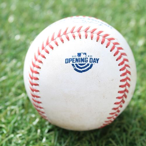 Game-Used Opening Day Baseball: Batter - Perez, Pitcher - Cordero, Single, Bottom 7 (7/31/20 CWS @ KC)
