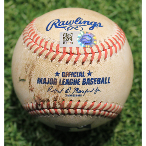 Photo of Game-Used Baseball: John Ryan Murphy 32nd Career Double (PIT @ KC 9/13/20)