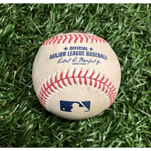Photo of Spring Training Game Used Baseball: Ryan Jeffers RBI double off Dietrich Enns - March 10, 2021 v MIN