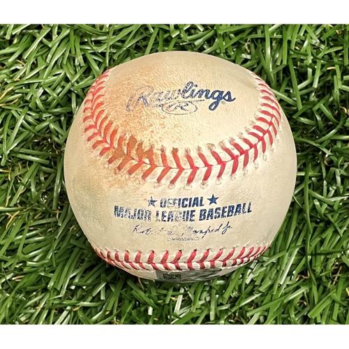 Photo of Game Used Baseball: Josh Donaldson double off Andrew Kittredge - Top 9 - September 5, 2021 v MIN