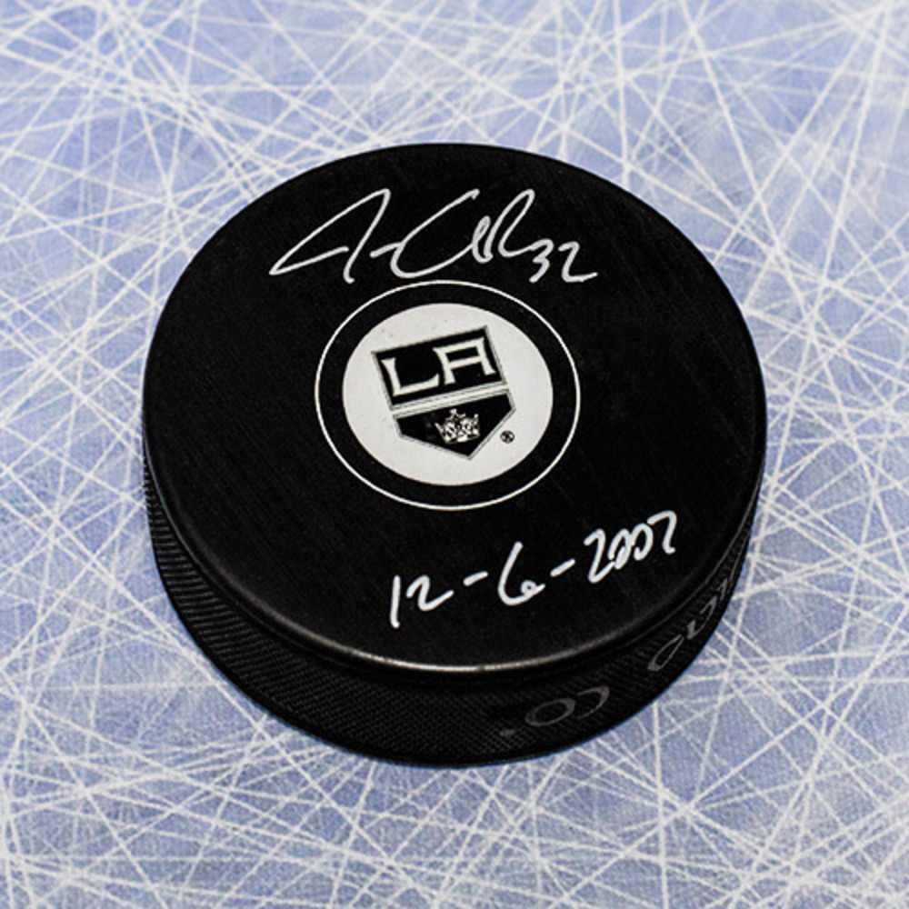 Jonathan Quick Los Angeles Kings Autographed Hockey Puck w/ 1st Game Note