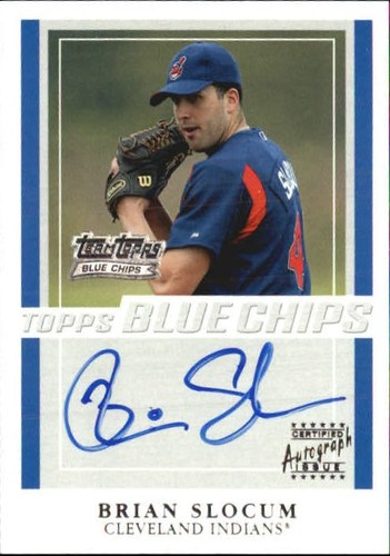 Photo of 2003 Topps Blue Chips Autographs #BS Brian Slocum