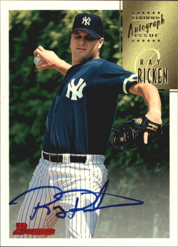 Photo of 1997 Bowman Certified Blue Ink Autographs #CA65 Ray Ricken