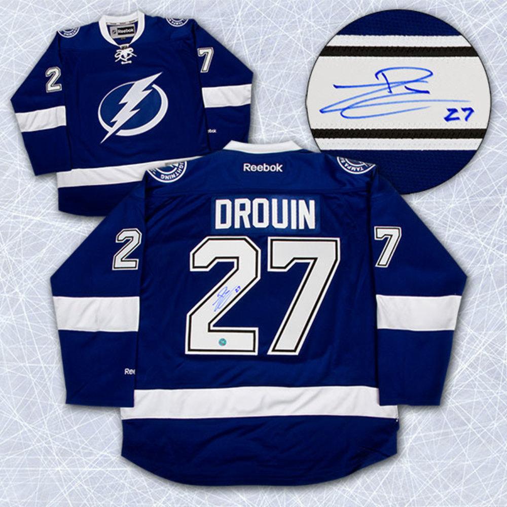 Jonathan Drouin Tampa Bay Lightning Autographed Reebok Premier Hockey Jersey