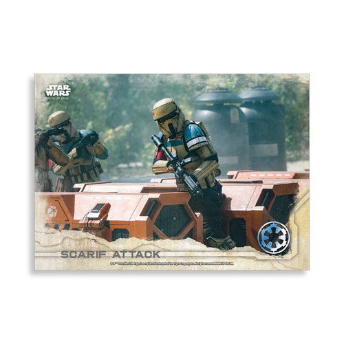 Scarif Attack 2016 Star Wars Rogue One Series One Base Poster - # to 99