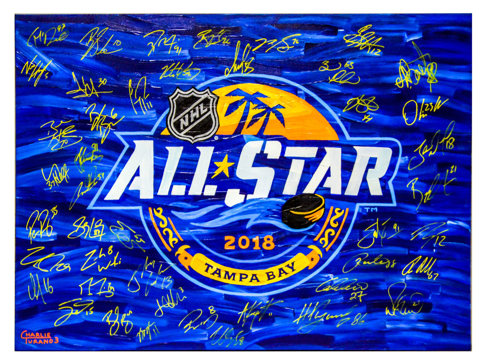 2018 NHL All-Star Game Autographed 30