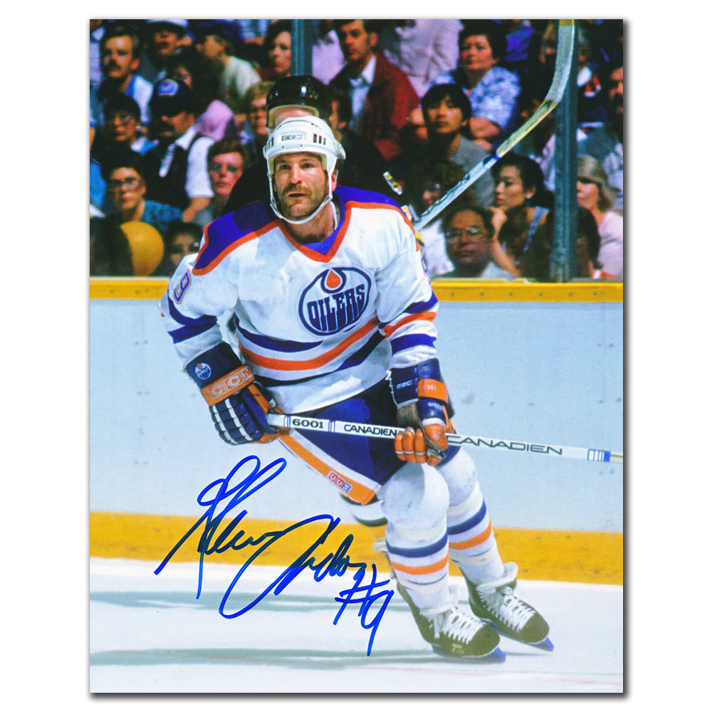 Glenn Anderson Edmonton Oilers WHITE JERSEY Autographed 8x10