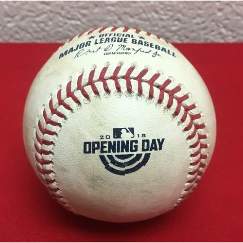 Photo of Game-Used Baseball: Anthony Rendon Double (2)