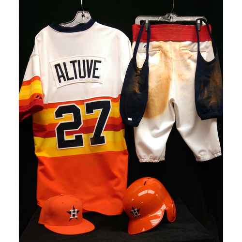 Photo of 1980 Turn-Back-The-Clock Jose Altuve Game-Used Uniform Package: Size - 44