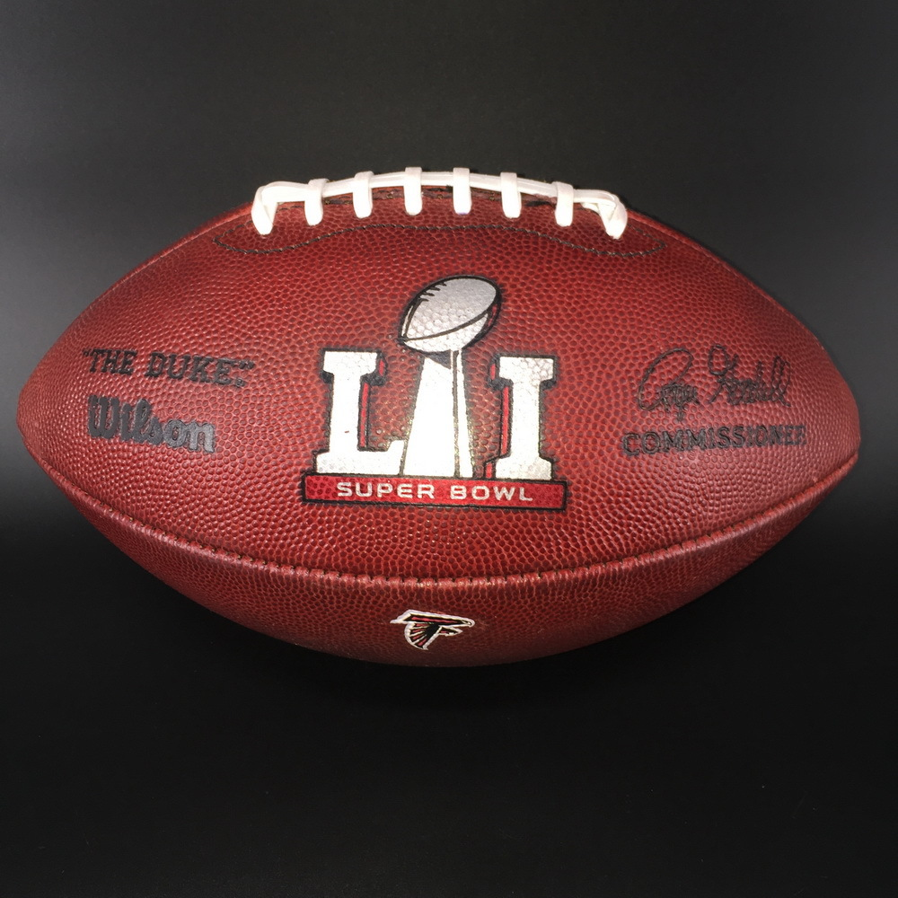 NFL - Super Bowl 51 Game Used Authentic Football Falcons Offense Patriots Defense