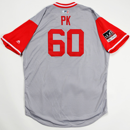 "Photo of Pat ""PK"" Kelly Cincinnati Reds Game-Used 2018 Players' Weekend Jersey"