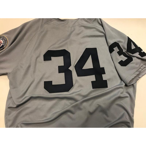 Photo of Game-Used 1968 World Series 50th Anniversary Jersey: James McCann