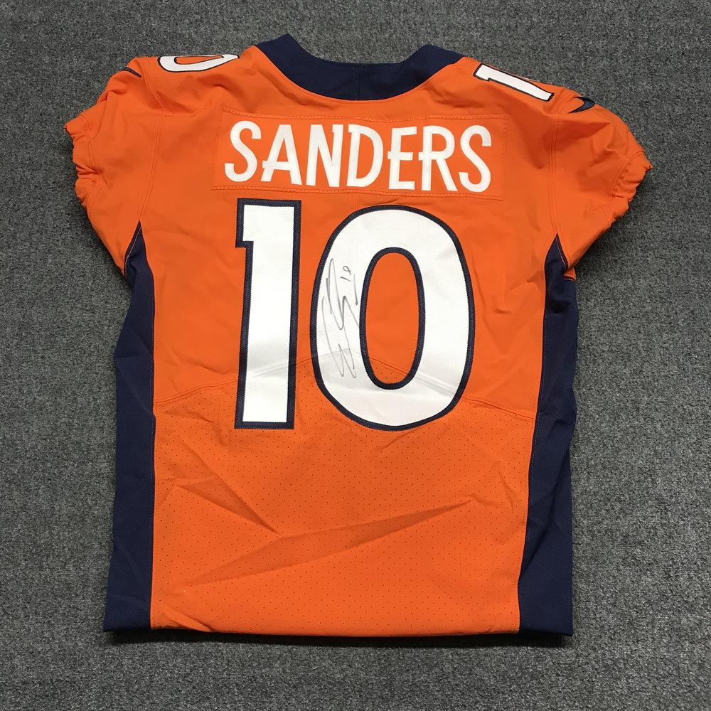 save off 8d412 f0cb0 NFL Auction | STS - Broncos Emmanuel Sanders signed and game ...