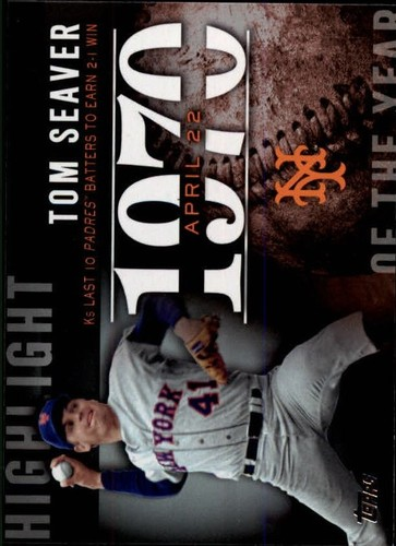 Photo of 2015 Topps Highlight of the Year #H73 Tom Seaver UPD