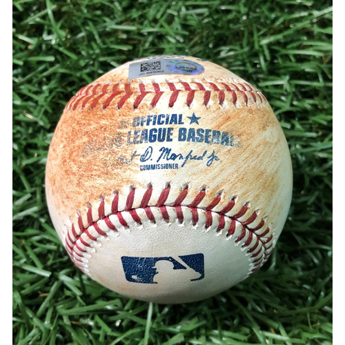 Photo of Game Used Baseball: Justin Turner double off Jaleen Beeks - May 21, 2019 v LAD