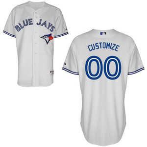 Toronto Blue Jays Customizable Authentic Collection Home Jersey by Majestic