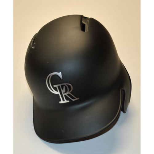 "Photo of Tim ""Melville"" Melville Colorado Rockies Team Issued 2019 Players' Weekend Helmet"