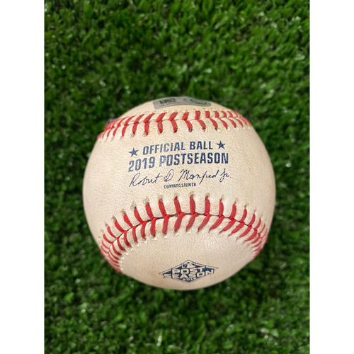 Photo of Brian McCann Hit Double Baseball - 10/3/19 NLDS Game 1