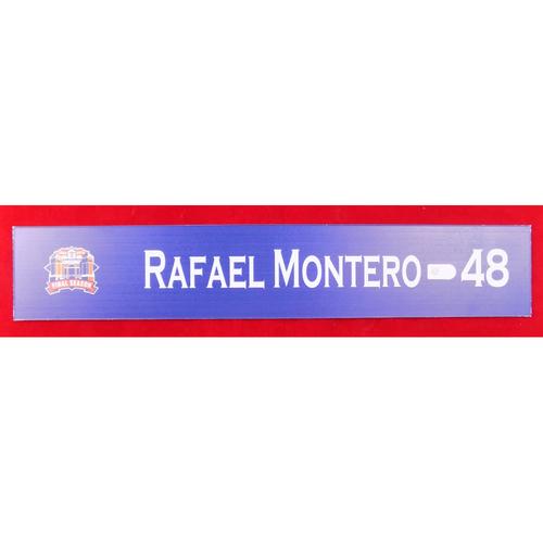 Photo of Final Season Game-Used Locker Tag - Rafael Montero - 9/28/19 vs NYY