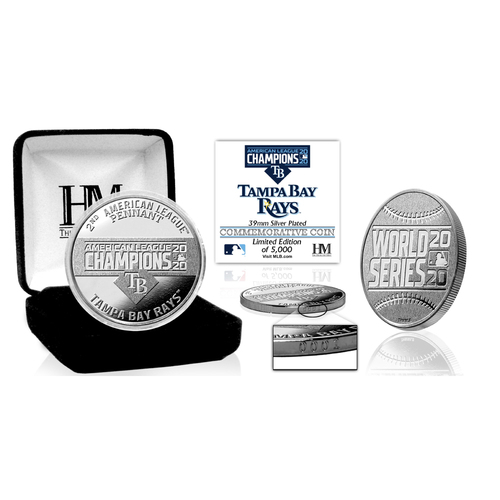 Photo of 2020 AL Champions Silver Mint Coin - Tampa Bay Rays