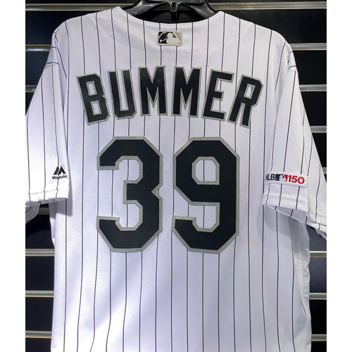 Photo of Aaron Bummer 2019 Game-Used White Pinstripe Jersey - Size 48