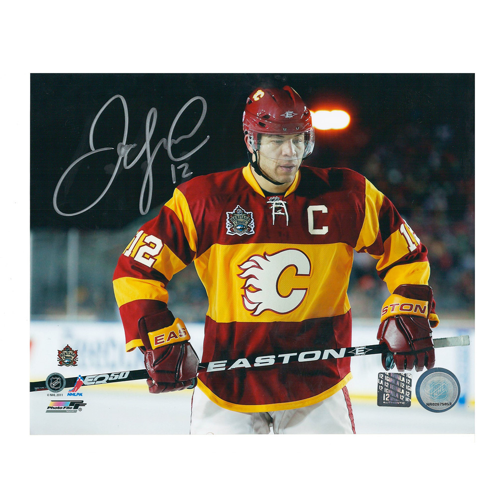 JAROME IGINLA Signed 2011 NHL HERITAGE CLASSIC Calgary Flames 8 X 10 Photo - 70194