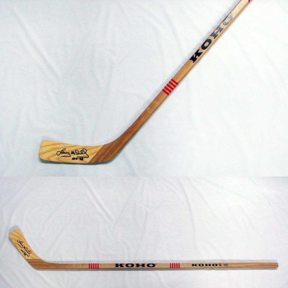 LANNY MCDONALD Signed KOHO Stick Inscribed HOF 92 - Toronto Maple Leafs