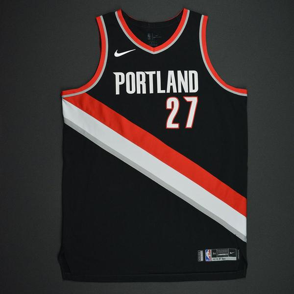 Jusuf Nurkic - Portland Trail Blazers - Kia NBA Tip-Off 2017 - Game-Worn  Jersey - Double-Double cce2afc69