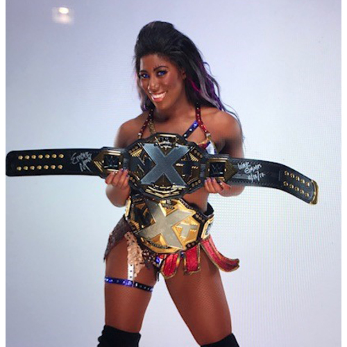 Photo of Ember Moon SIGNED NXT Women's Championship Replica Title (NXT TakeOver: War Games - 11/18/17)