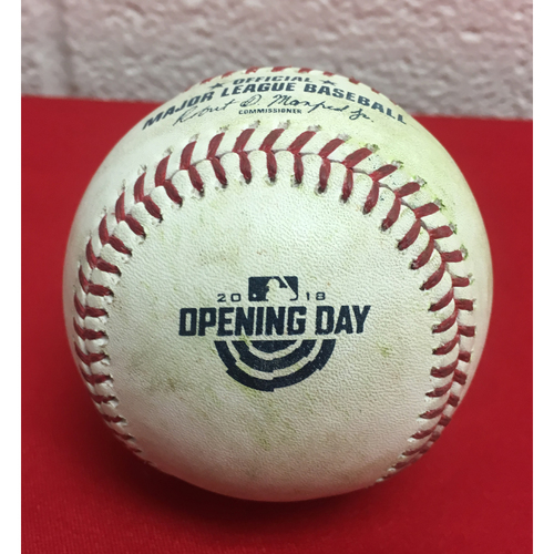 Photo of Game-Used Baseball: Stephen Strasburg Strikes Out Adrian Gonzalez