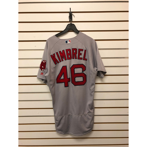 Photo of Craig Kimbrel Game Used May 30, 2017 Road Jersey