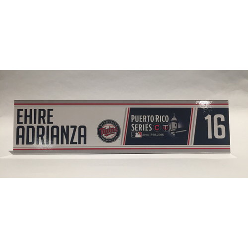 Photo of 2018 Puerto Rico Series - Ehire Adrianza Game-Used Locker Name Plate