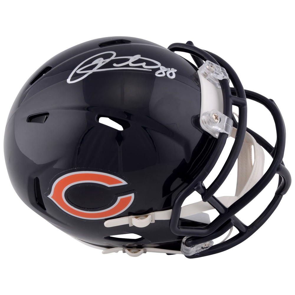 Patrick Kane Chicago Blackhawks Autographed Chicago Bears Mini Helmet
