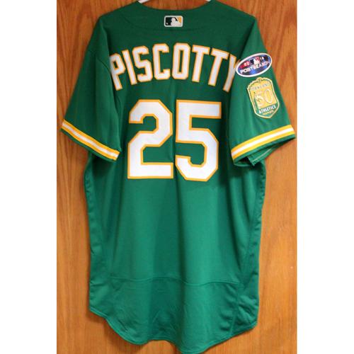 Team Issued Stephen Piscotty 2018 Jersey w/ Postseason Patch