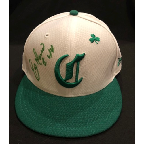 Photo of Eric Davis -- Autographed & Game-Used Cap -- 2019 St. Patrick's Day