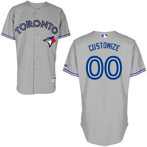 Toronto Blue Jays Customizable Authentic Collection Road Jersey by Majestic