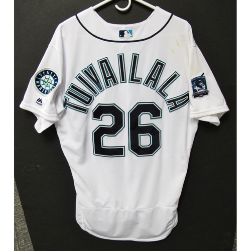 Photo of Seattle Mariners 2019 Sam Tuivailala Game-Used Jersey - Edgar Martinez Hall of Fame Celebration Weekend - August 9-11