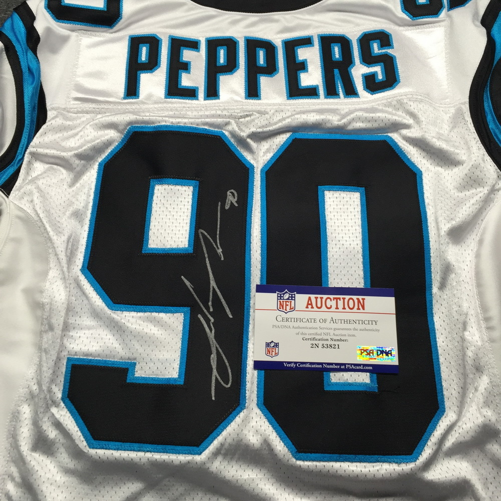 NFL Auction | Panthers - Julius Peppers Signed Jersey Size 50