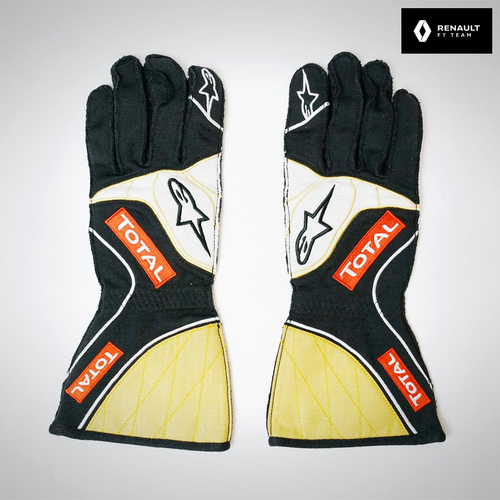 Photo of Romain Grosjean 2015 Replica Race Gloves - Lotus F1 Team
