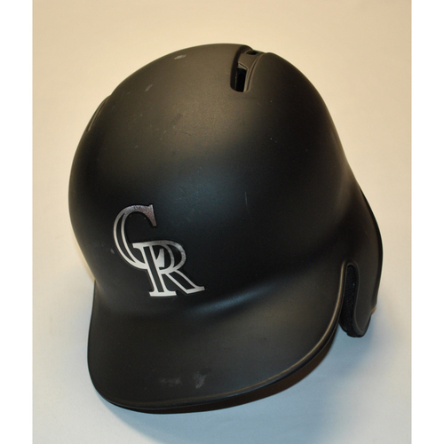 "Photo of Jesus ""TINO"" Tinoco Colorado Rockies Team Issued 2019 Players' Weekend Helmet"