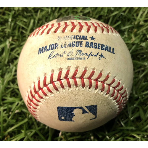 Photo of Game Used Baseball: Charlie Morton strikes out Aaron Judge - September 25, 2019 v NYY