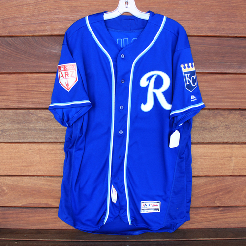 Photo of Team-Issued Spring Training Jersey: Mike Jirschele (Size 50)