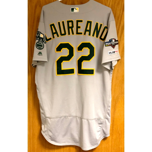 Photo of Game-Used Jersey - Ramon Laureano HRs (15, 16, 23, & 24) w/ 2019 Postseason Patch