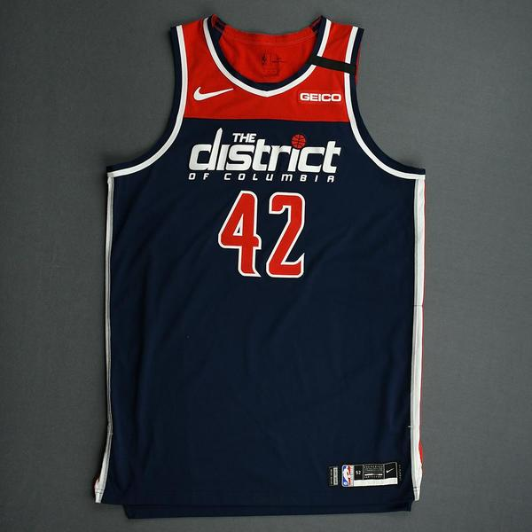 Image of Davis Bertans - Washington Wizards - Game-Worn Statement Edition Jersey - Scored 21 Points - 2019-20 NBA Season