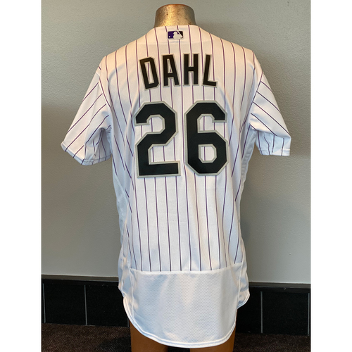 Photo of Colorado Rockies Team-Issued 2020 Home Opener Jersey: David Dahl