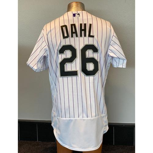 Photo of Colorado Rockies Team-Issued 2020 Home Opener Jersey: David Dahl