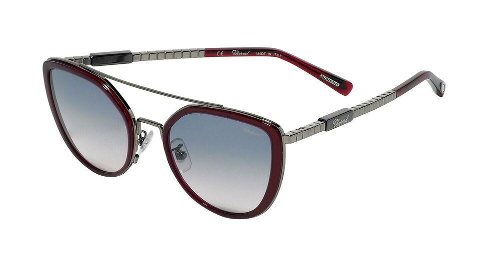 Photo of Chopard SCHC 0509 Burgundy and Gunmental Sunglasses